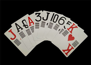 Plastic PVC Waterproof Casino Standard Playing Cards Custom Offset Printing