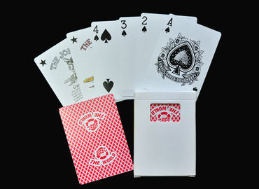 Family Entertainment Game Poker Playing Cards , Plastic or Paper Poker Card Deck