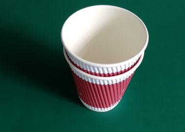 Customized Eco Friendly Paper Cups With Lid 330ml 12 / 14 / 16 OZ